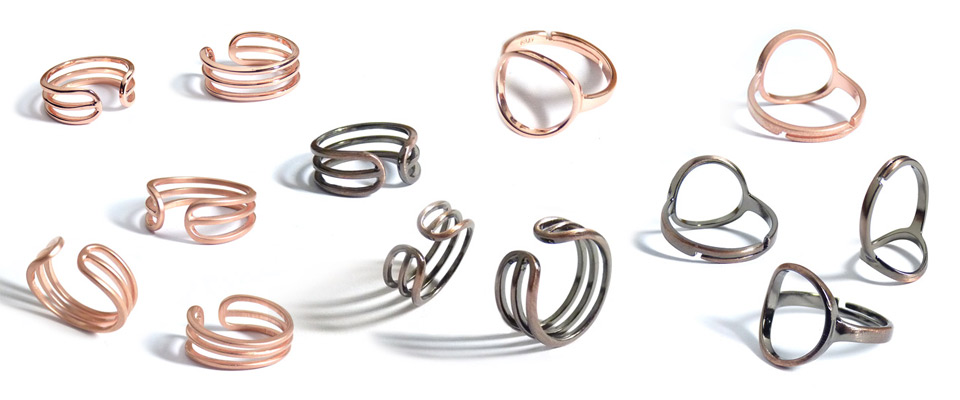Wholsale designer fashion rings with adjustable bands