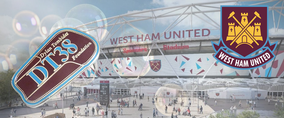 premium football pin badge suppliers - pins made for West Ham United charity campaign